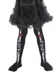 Collants squelette enfant Dia de los muertos