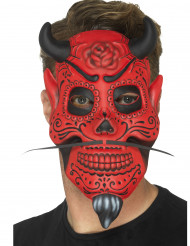 Masque gentleman démoniaque adulte Dia de los muertos