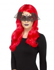 Loup bal masqué chauve-souris femme Halloween