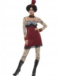 Déguisement circus tatoué femme