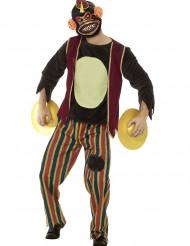 Déguisement jouet singe aux cymbales adulte