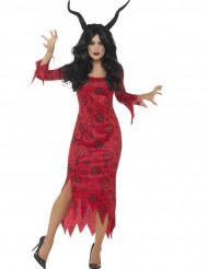Déguisement diable occulte rouge femme Halloween