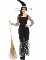 Déguisement sorcière lune et étoile femme Halloween