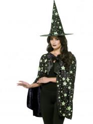 Kit sorcière de minuit phosphorescent femme Halloween