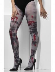Collants ensanglantés zombie adulte Halloween