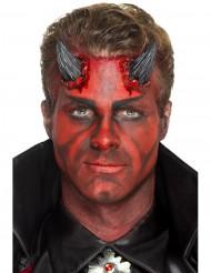 Prothèse latex cornes du diable noires adulte Halloween