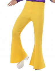 Pantalon disco jaune homme