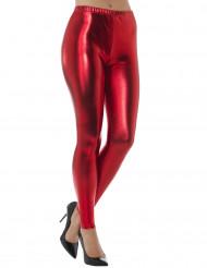 Legging métallisé rouge adulte