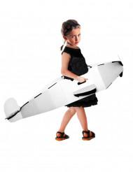 Avion à réaction personnalisable carton recyclé enfant 120 X 50 cm