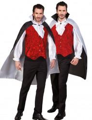 Cape réversible noire et blanche adulte Halloween