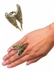 Bague dorée ailes d'ange adulte