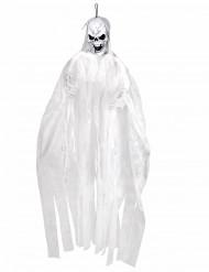 Décoration à suspendre squelette blanc 150 cm Halloween