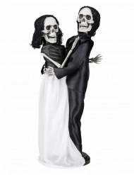 Décoration couple de mariés squelette 40 cm Halloween