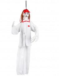 Décoration à suspendre infirmière blanche Halloween 90 cm