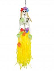 Décoration à suspendre squelette hawaïenne 90 cm Halloween