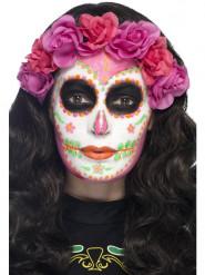 Maquillage latex squelette phosphorescent femme Dia de los muertos
