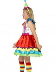 Déguisement clown à jupette multicolore fille