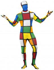 Déguisement seconde peau Rubik's Cube™ homme
