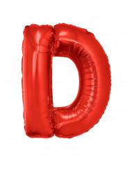 Ballon aluminium géant lettre D rouge 102 cm