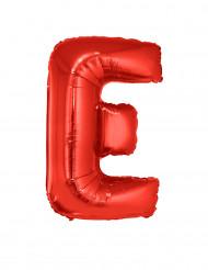 Ballon aluminium géant lettre E rouge 102 cm