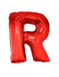 Ballon aluminium géant lettre R rouge 102 cm