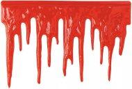 Décoration murale d'Halloween gouttes de sang rouge