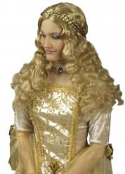 Perruque longue tressée médiévale femme
