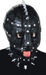 Masque avec rivets noir argenté