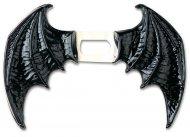 Ailes démon noir en vinyle adulte Halloween