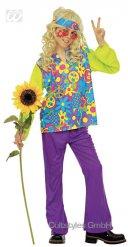 Déguisement hippie enfant multicolore