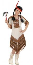 Déguisement squaw indienne beige fille