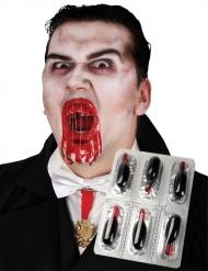 6 Capsules de faux sang Halloween