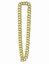 Collier bling bling doré adulte