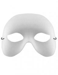 Masque vénitien blanc Adulte