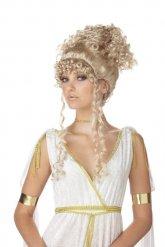 Perruque de déesse grecque blonde pour femme