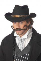 Moustache cowboy homme marron