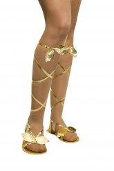 Sandales gréco-romaines femme or