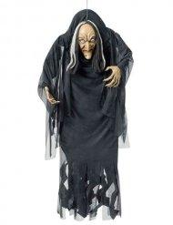 Décoration à suspendre sorcière noire et blanche 140 cm Halloween