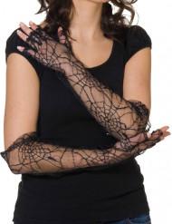 Gants en toiles d'araignées noirs