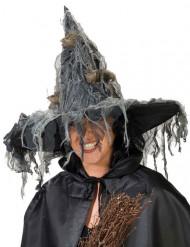 Chapeau de sorcière avec rats femme