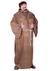Déguisement de moine avec perruque grande taille homme