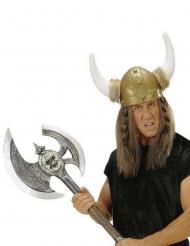 Hache de viking argentée