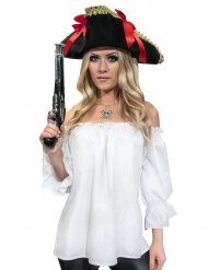 Chemise pirate épaules nues femme