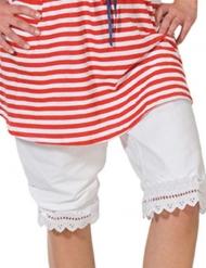 Longue culotte rétro en dentelle blanche