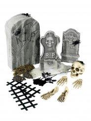 Décorations 21 pièces squelette et pierre tombale Halloween