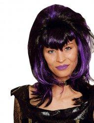 Perruque vampire femme noir et violet