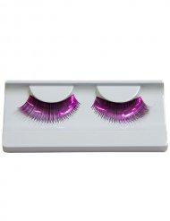 Faux cils en dents de scie violet adulte