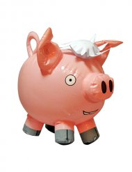 Décoration cochon gonflable rose
