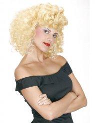Perruque bouclée années 50 femme blonde