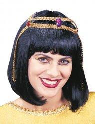 Perruque Cléopâtre femme noir